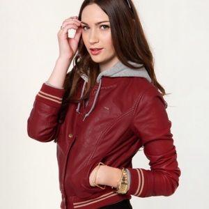 OBEY ❤️ Varsity Lover Leather/Hoodie Jacket